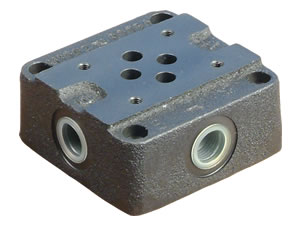 "Cetop 3 - 3/8"" bsp Side Entry Subplate - BS3.14.00.1"